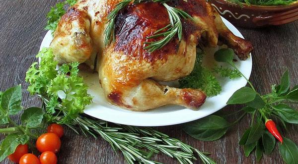 Курица с розмарином рецепт
