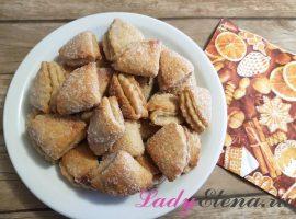 Печенье с творогом треугольники