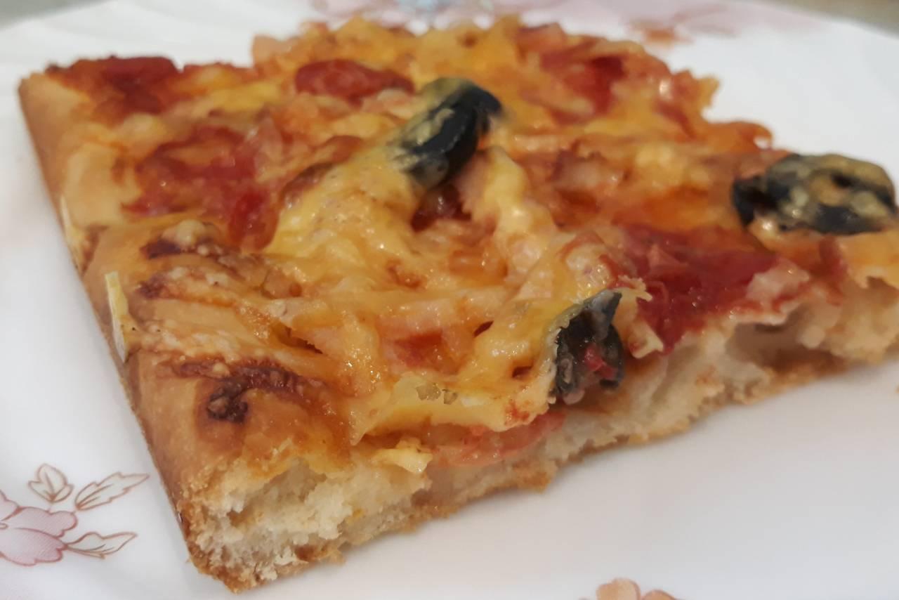Пицца тонкая без дрожжей рецепт пошагово