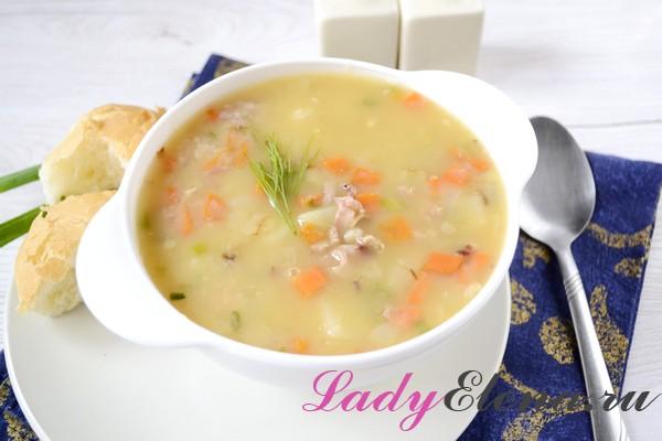 суп гороховый с ребрышками фоторецепт