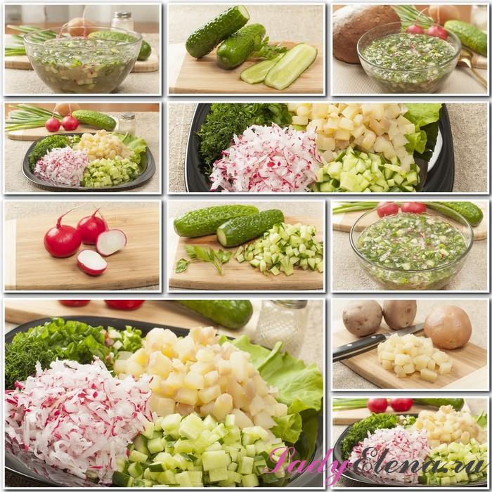 Как готовить постную окрошку