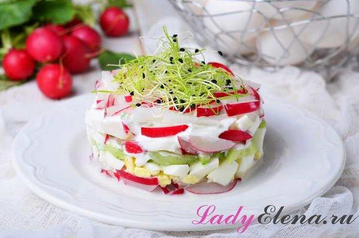 Вкусный салатик с редиской