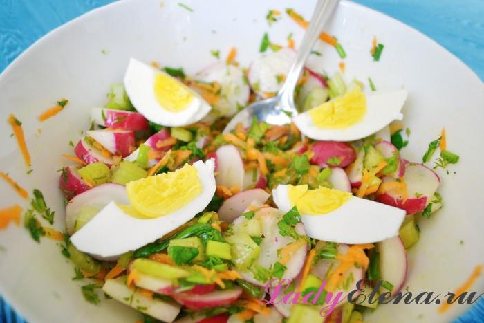 Как сделать салат из редиски и яиц