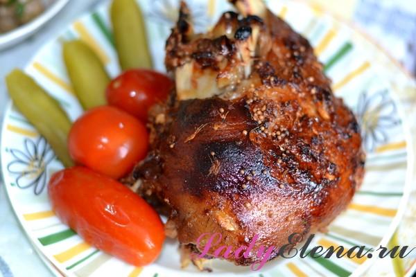 Фото рецепт свиной рульки в духовке