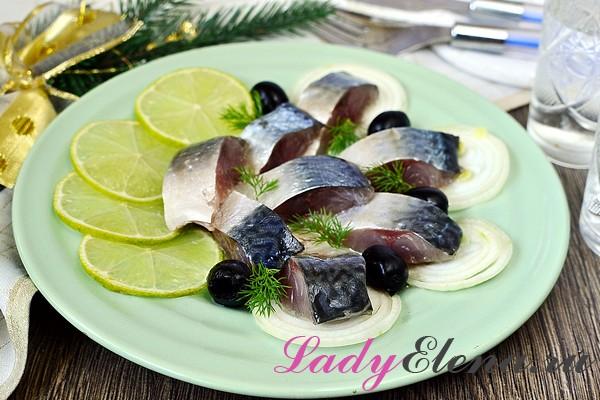 Фото рецепт соленой скумбрии