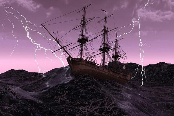 Приснился шторм на корабле