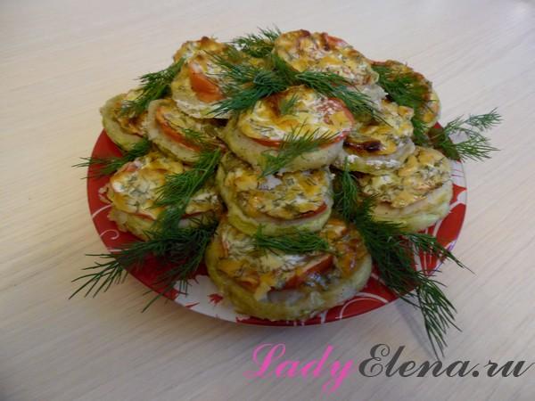 Фото рецепт кабачков с сыром в духовке
