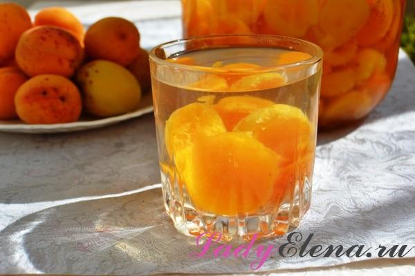 Фото рецепт компота из абрикос