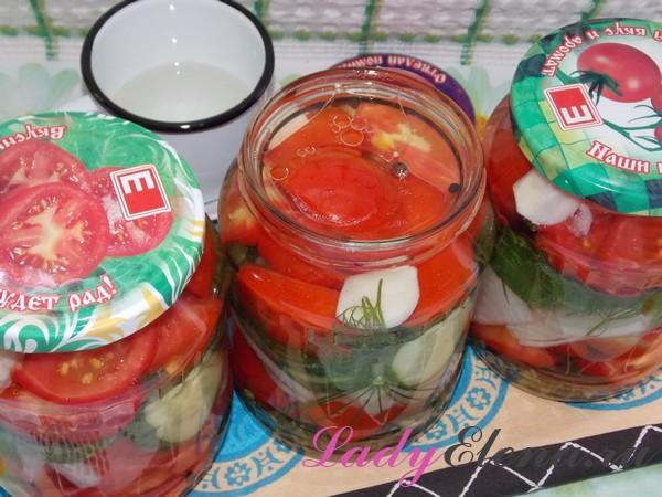 Овощное ассорти с растительным маслом