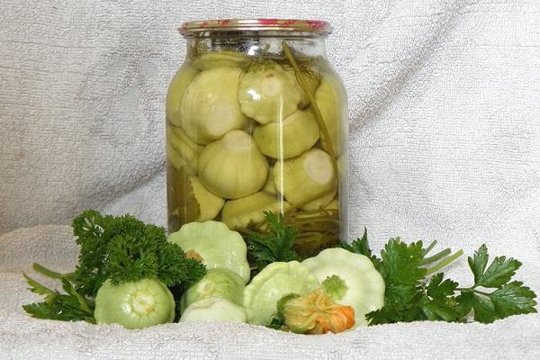 Как заготовить патиссоны с кабачками на зиму