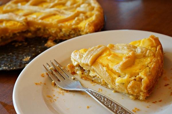 Лимонный пирог из слоеного теста