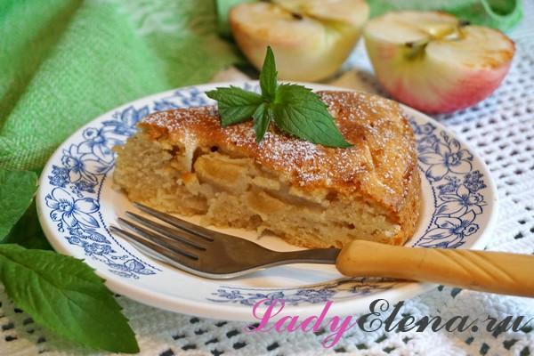 Фото рецепт самого простого яблочного пирога