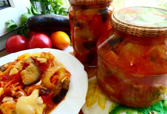 Как приготовить Кубанский салат с баклажанами