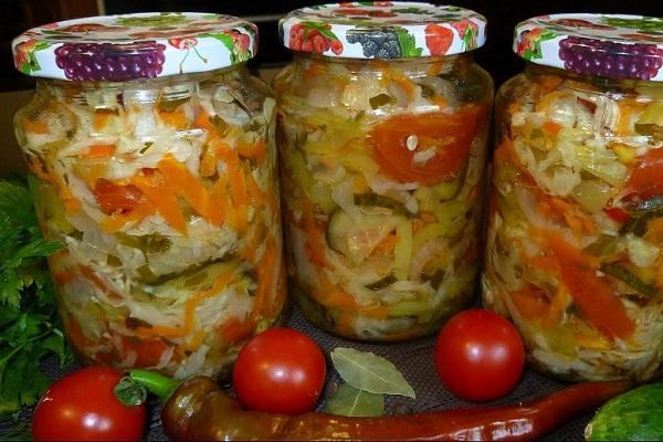 Кубанский салат без стерилизации