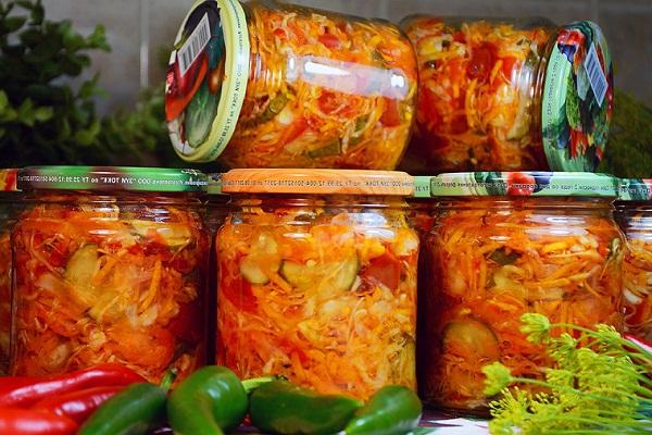 Салат Кубанский - рецепт заготовки на зиму