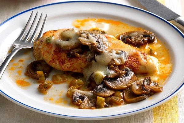 Бедра куриные с грибами в духовке