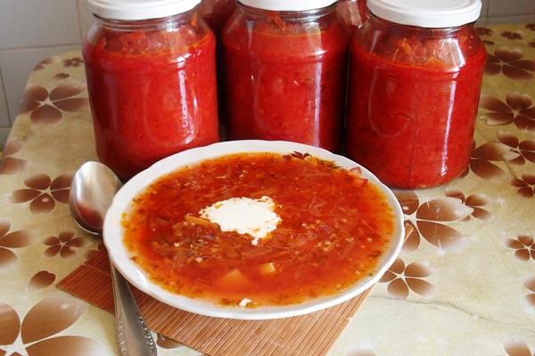 Как заготовить заправку для борща с болгарским перцем