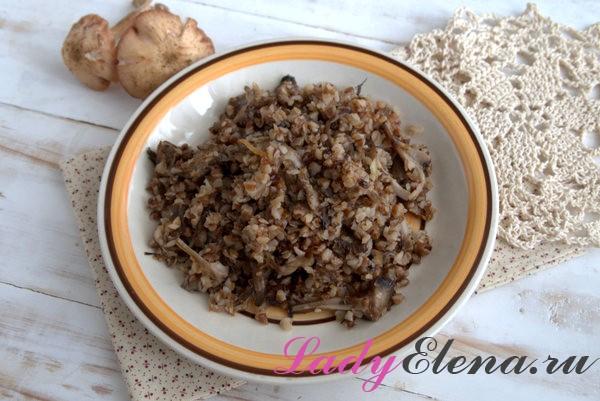 Фото рецепт гречка с грибами и луком