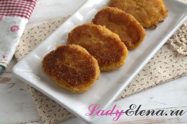 Котлеты из тыквы с картошкой фото рецепт