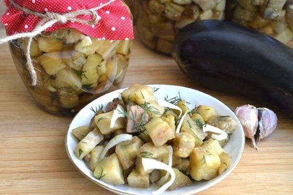 Зимний салат Баклажаны как грибы