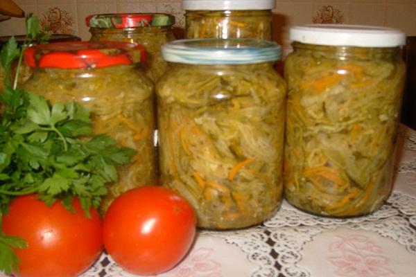 Кабачки с луком на зиму - вкусный салат