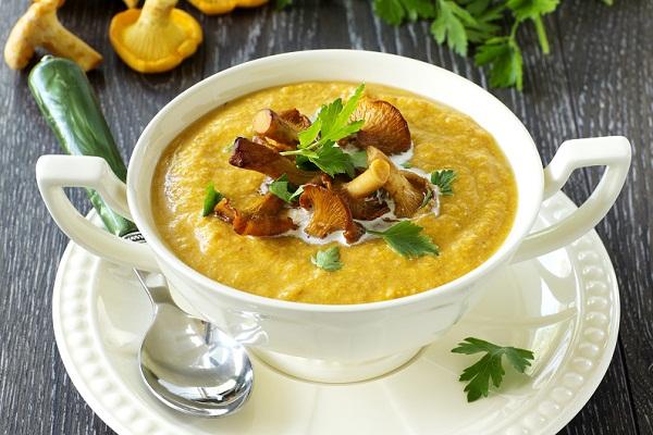 Как сварить крем-суп с опятами и сыром