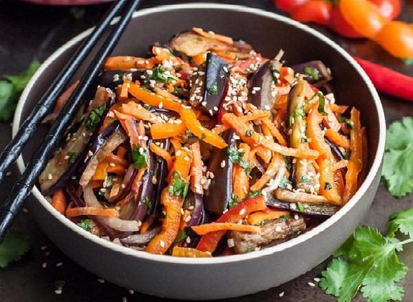 Маринованные баклажаны по-корейски быстрый рецепт