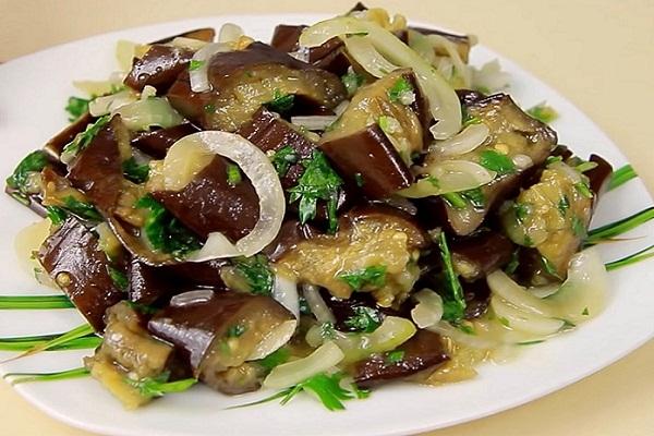 Быстрая закуска - маринованные баклажаны как грибы