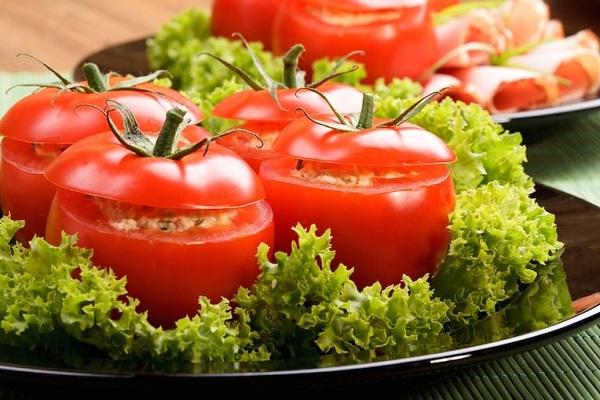 Закуска фаршированные помидоры
