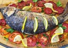 Карп с овощами в духовке фото рецепт