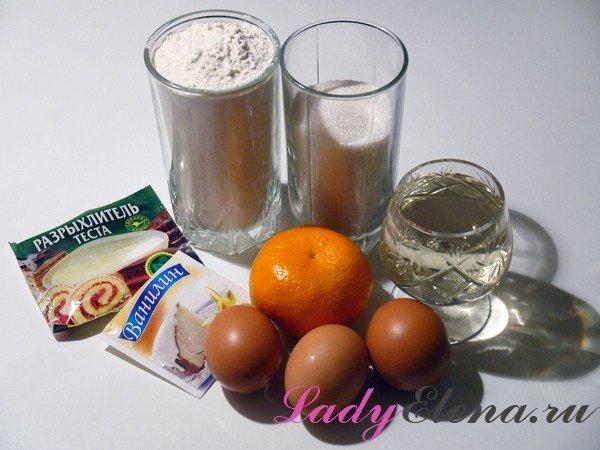 Как испечь кексы с добавлением мандарина