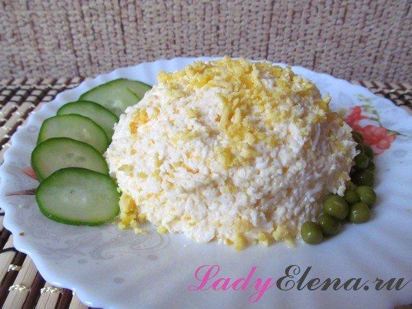 Еврейский салат из яиц и плавленого сыра