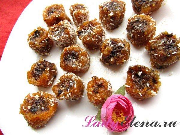 Вкусные и полезные конфеты из сухофруктов