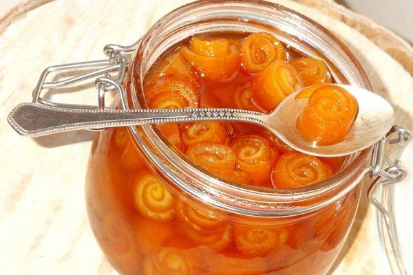 Варенье из апельсиновых корок завитушки