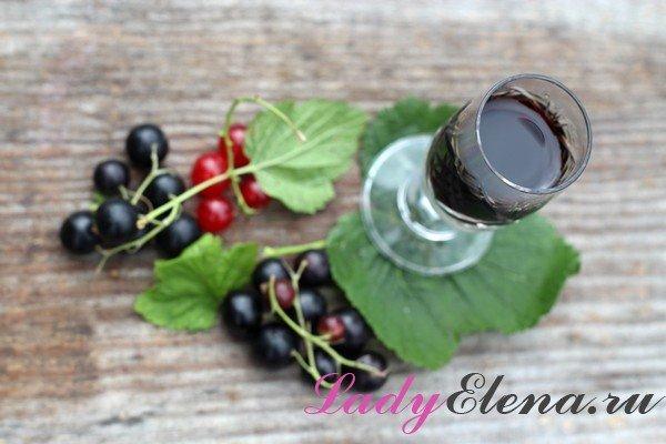 Как делать настойку из черной смородины без спирта и водки