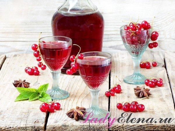 Настойка красносмородиновая на спирту