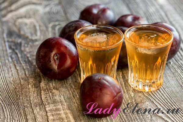 Сливовая настойка с добавлением спирта