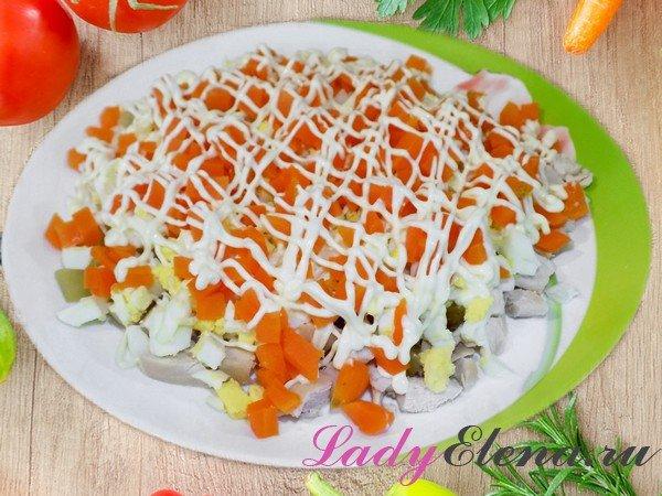 Салат из курицы и морковки фото-рецепт