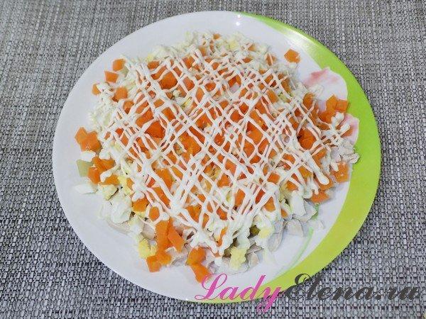 Куриный салат с морковью фото-рецепт