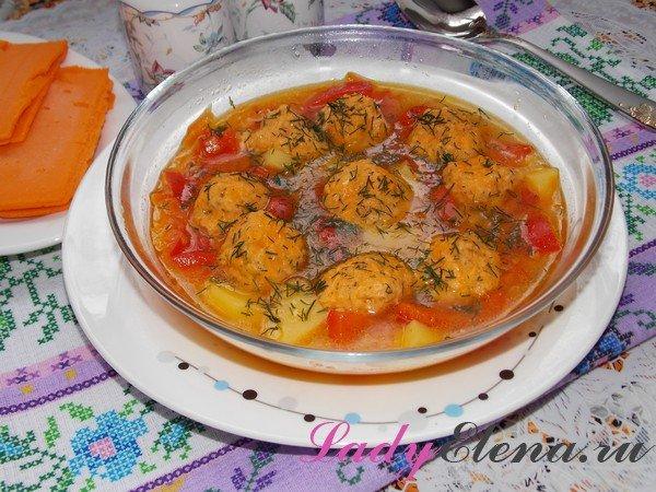 Как сварить суп с сырными клецками