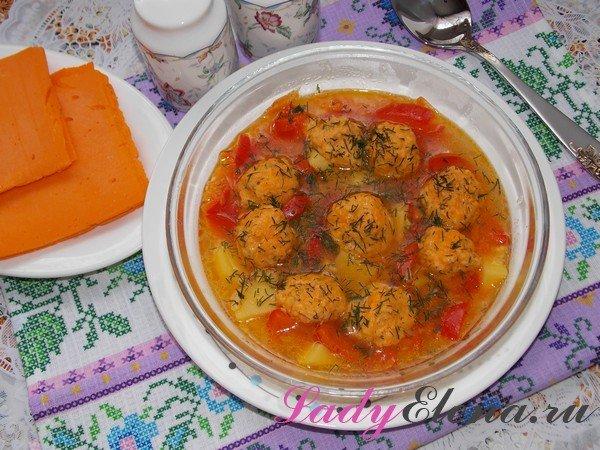 Суп с клецками из сыра фото-рецепт