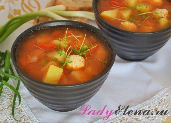 Вкусный суп из красной чечевицы с фрикадельками