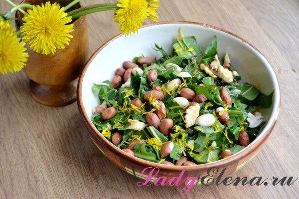 Салат из одуванчиков: фото-рецепт