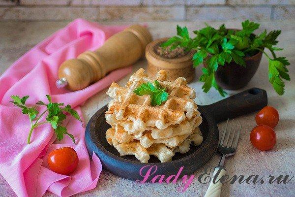 Как приготовить сырные вафли