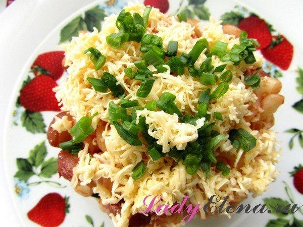 Макароны с фасолью - фото-рецепт