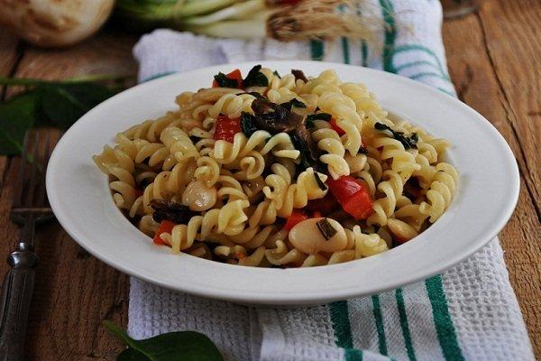 Рецепт макарон с фасолью