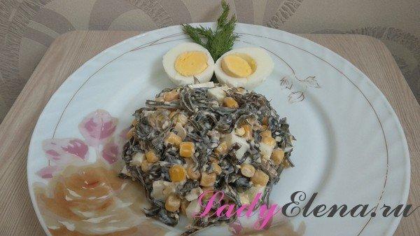 Салат из морской капусты фото-рецепт