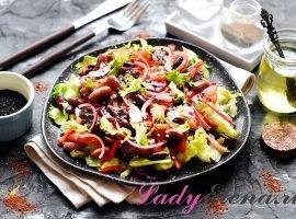 Салат из говядины и фасоли фото-рецепт