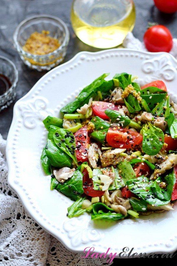 Салат из шпината - рецепт с описанием и фото