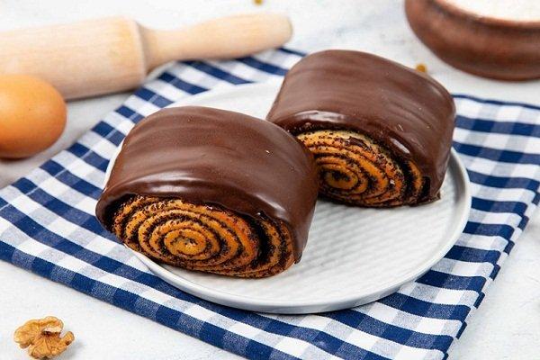 Шоколадные булочки с маком